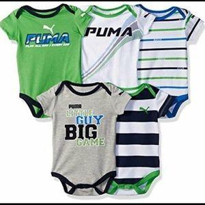 Puma One Pieces - Puma 5 pack bodysuit